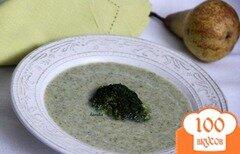 Фото рецепта: «Куриный суп из брокколи, с грушей»