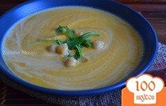 Фото рецепта: «Морковный суп-пюре с горохом нут»