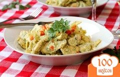 Фото рецепта: «Паста с курицей и брокколи»