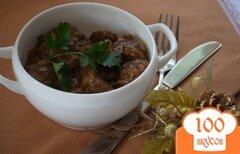 Фото рецепта: «Печень куриная с томатном соусе»