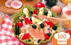 Фото рецепта: «Салат с макаронами, курицей и беконом»