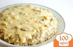 Фото рецепта: «Перловка с соусом»