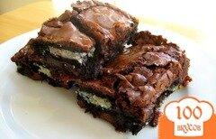 Фото рецепта: «Шоколадные пирожные с орехами»