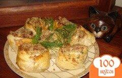 Фото рецепта: «Ореховые столбики из слоеного теста с ветчиной и сыром»