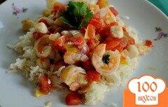 Фото рецепта: «Тушеные морские гребешки с креветками»