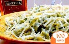 Фото рецепта: «Домашняя чесночно-шпинатная лапша под чесночно-медовым соусом (с креветками).»