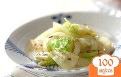 Фото рецепта: «Салат из капусты с луком»