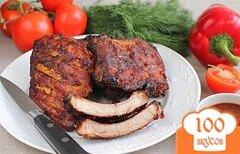 Фото рецепта: «Свиные ребрышки запеченные в духовке»