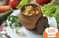 Фото рецепта: «Куриный суп в горшочке»