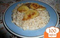 Фото рецепта: «Овсяная каша с жареным бананом»