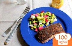 Фото рецепта: «Жаренный лосось»