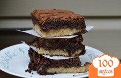 Фото рецепта: «Брауни с арахисовым маслом»