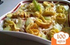 Фото рецепта: «Салат из курицы с омлетом»