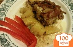 Фото рецепта: «Кролик,тушенный со сливками»