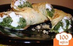 Фото рецепта: «Блинчики со шпинатом»