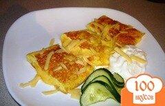 Фото рецепта: «Яичные роллы с сыром к завтраку»