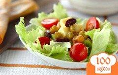 Фото рецепта: «Традиционный салат с фасолью»