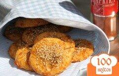 Фото рецепта: «Закусочное сырное печенье с паприкой и приправами»