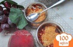 Фото рецепта: «Персиковый крамбль с розмарином»
