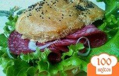 Фото рецепта: «Сендвич с булочкой из заварного теста»