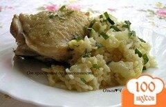 Фото рецепта: «Куриные бедра с капустой и рисом в мультиварке»