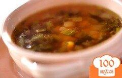 Фото рецепта: «Летний кукурузный суп с зеленым перцем»