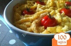 Фото рецепта: «Макаронная запеканка с сыром и томатами»