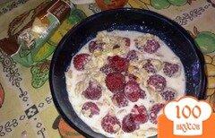 Фото рецепта: «Полезный завтрак с малиной»