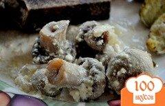 Фото рецепта: «Грибы запеченные в сметане и с луком»