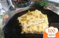Фото рецепта: «Омлет со спаржевой фасолью и сыром»