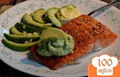 Фото рецепта: «Семга с авокадо дип»