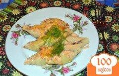 Фото рецепта: «Конкильони с вареным фаршем под томатно-сливочным соусом»