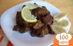 Фото рецепта: «Печень по-бразильски с бананом»