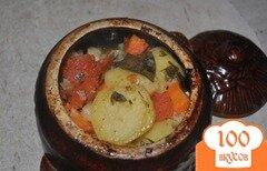Фото рецепта: «Картофель с помидорами»