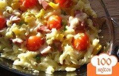 Фото рецепта: «Пирог из пасты с ветчиной и сыром»