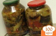 Фото рецепта: «Закуска из баклажанов,перца и помидор»