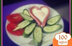 "Фото рецепта: «Романтический завтрак яичница ""Сердечко""»"