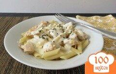 Фото рецепта: «Паста с курицей под соусом альфредо»