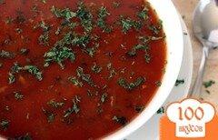 Фото рецепта: «Томатный суп с моллюсками в мультиварке»