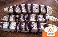 Фото рецепта: «Бискотти с корицей и миндалем в шоколадной глазури»