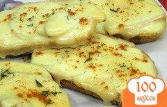 Фото рецепта: «Гренки с яблоками и сыром»