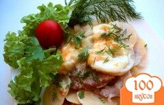 Фото рецепта: «Картофель, запеченный с кабачками и мясом»