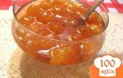 """Фото рецепта: «Варенье из черешни с лимоном """"Янтарь""""»"""