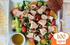Фото рецепта: «Фруктовый салат с курицей»