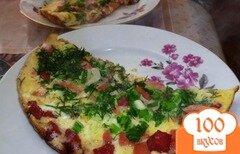 Фото рецепта: «Омлет с колбасой»