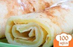 Фото рецепта: «Блины с яблочным припеком»