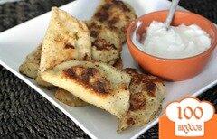 Фото рецепта: «Вареники с козьим сыром и овощами»