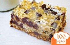 Фото рецепта: «Овсяные пирожные с шоколадом и кокосовой стружкой»