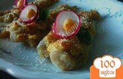 Фото рецепта: «Филе скумбрии под орехово-сырной шапочкой»