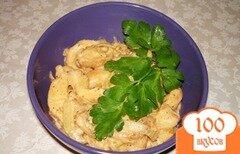 Фото рецепта: «Вкусная курочка или Бефстроганов из курицы»